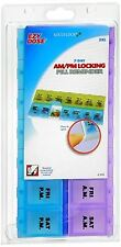 Ezy-Dose Adult-Lock 7-Day AM/PM Locking Pill Reminder 2XL #67828 1 Each (4 pack)