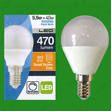 10x 5.5W (=40W) Pearl Dimmable LED SES E14 Round G45 Golf Ball Light Bulb Lamp
