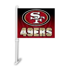 San Francisco 49ers Ombre Car Flag