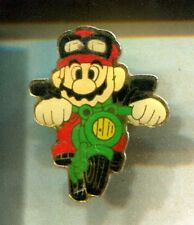RARE PINS PIN'S .. JEU VIDEO GAMES BD COMICS NINTENDO MARIO BROS MOTO N°1 ~CW