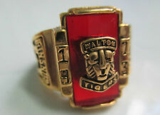 Beautiful Men US Army 1973 Rings , Gold Plated , Ruby stone , size 10