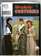 Simplicity 8375 Jana Beus Historic Victorian Edwardian Dress Pattern 6 8 10