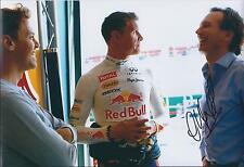 Christian Horner SIGNED Red Bull AUTOGRAPH 12x8 Photo AFTAL COA COULTHARD