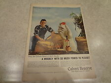 """1959 Calvert Reserve Whiskey Vintage Magazine Ad """"From the Good Things of the..."""