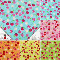 FQ - CHERRY & RETRO POLKA DOT SPOT 100% COTTON DRESS QUILT PATCHWORK FABRIC VA25