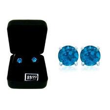 London Blue Topaz Earrings, Gift-Boxed