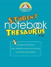 Random House Webster's Student Notebook Thesaurus, Second Edition Random House