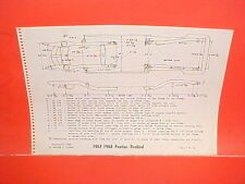 1967 1968 PONTIAC FIREBIRD RAM AIR 400 350 HO CONVERTIBLE FRAME DIMENSION CHART