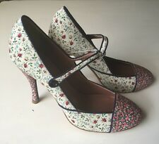 Tabitha Simmons JCrew Folly Rose High-Heels Mary Jane Sz 8 / 38.5 Liberty Print