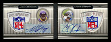 2007 TRIPLE THREADS ADRIAN PETERSON/CALVIN JOHNSON RC DUAL NFL LOGOMAN AUTO #1/1