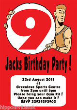 Personalised Basketball Player Hoops Birthday Party Invites x 12 with envs H1297
