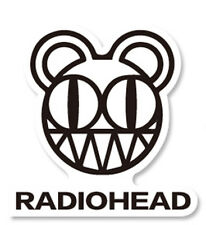 RADIOHEAD sticker decal thom yorke muse blur placebo beck supergrass coldplay