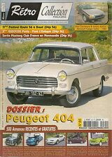 RETRO COLLECTION 85 DOSSIER PEUGEOT 404 RENAULT FUEGO TURBO 1984