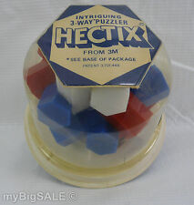 Vintage 1974 HECTIX 3-Way Puzzler With 3 Solutions (Brain Teaser) 3d Puzzle 3m