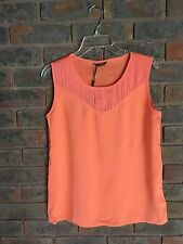 Massimo Dutti NWT ladies sleeveless Orange Tank/Top Sz M/ UK 12