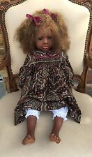 Aboriginal Porcelain Doll 'Kahla' by Pauline Middleton Limited Ed 18/50 2000