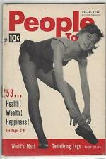 BRIGITTE BARDOT  PEOPLE TODAY MAGAZINE DEC 31 1952  CENTER PHOTO OF BARDOT