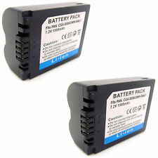 2x Battery For CGR-S006 Panasonic Lumix DMC-FZ7 DMC-FZ8 DMC-FZ18 Digital Camera