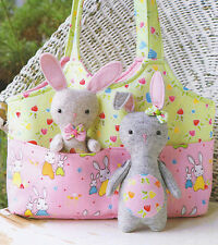 Bag O' Bunnies - Sewing Craft PATTERN - Soft Toy Felt Doll Bear Rabbit Bunny