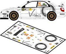 DECALS 1/43 SUBARU IMPREZA WRC #25 - JONES - RALLYE ADAC ALLEMAGNE 2008 - D43111