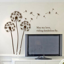 New Removable Art Vinyl Quote DIY Dandelion Wall Sticker Decal Mural Home Decor