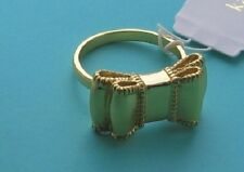 kate spade LADY-LIKE RING  designer feminine size 7 gold plated authentic NWT