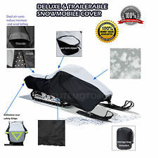 Polaris RMK 500 600 700 800 Deluxe Trailerable Snowmobile Sled Cover Grey/Black