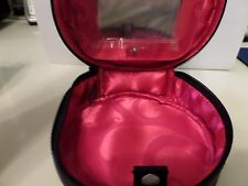 "Mary Kay Round  7""  Wide Make Up Bag ~New~ With Mirror"