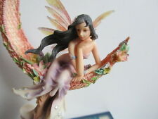 RARE FAERIE GLEN TWINKLEWANE BEAUTIFUL FAIRY SITTING ON A WICKER MOON LTD EDITI
