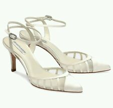 Bnwb Benjamin Adams 'Penelope' ivory silk wedding/party shoes.38 (uk 4.5)£169