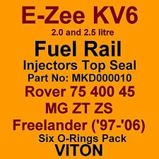 KV6 Fuel Injector TOP Seals VITON O-Rings Rover 75 400 45 MG ZT ZS Freelander