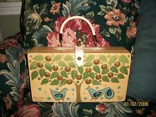 WOMEN'S VINTAGE 60'S 1966 ENID COLLINS OF TX MONEY TREE WOOD BOX PURSE