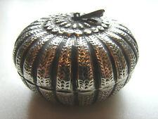 antike Dose in Apfelform, Silber, vermutlich orientalisch, 31 Gramm