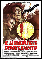 IL MEDAGLIONE INSANGUINATO MANIFESTO CINEMA HORROR 1974 MOVIE POSTER 2F