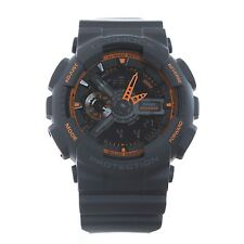 CASIO G-Shock GA-110TS-1A4 Men's Watch Dark Grey/Neon Orange Fast Ship