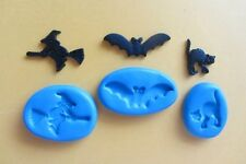 3 X HALLOWEEN Mould Chocolate Cupcakes Sugarcraft Cake Topper  Fimo Cernit Soap
