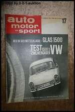 AMS Auto Motor Sport 17/63 VW 1500 S Glas 1500 Porsche 356 C