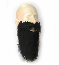 Adult Long Black Beard & Mustache Pirate Dwarf Wise Man Costume Accessory