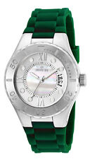 Invicta Women's Angel Quartz 100m Stainless Steel Green Silicone Watch 19393