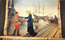 BG13993 pelerinage en bateau ste anne de beaupre painting art  p q canada