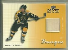 2000/01 Upper Deck MVP Hockey Ray Bourque Game Used Stick Card