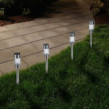 Pure Garden Set of 6 Solar LED Pathway Lights