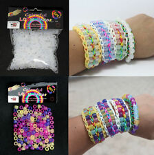 250Pcs UV Magic Color Changing Pony Beads for Loom Rubber Bands Bracelet Kid DIY