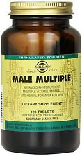 Solgar Male Multiple Multi-Vitamin, Mineral and Herbal for Men 120 tablets SALE