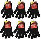 3 Pairs Mens Boys Warmed Magic Gloves Stretchable Winter Gloves One Size Fit All