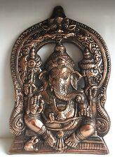 Ganesha Large 30 cms W/h Mouse elephant face god Hinduism Bronze antique statues