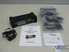 Cables to Go 35555 4-Port VGA and USB 2.0 / PS2 KVM Switch W/ VGA/USB CABLES