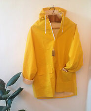 NEW YELLOW UNISEX RAIN COAT / FISHERMAN Mac CLASSIC Summer Festival style Jacket