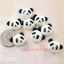 12pcs 22mm Cute Panda Kawaii Flatback Resin Cabochon