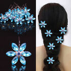 5pcs Women Fashion Rhinestone Flower Crystal Hair Clips Barrettes Wedding Bridal